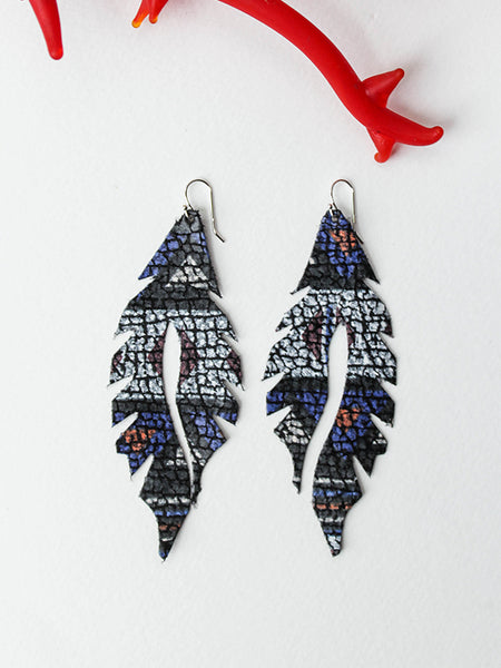 Leather Feather Minis: Stained Glass