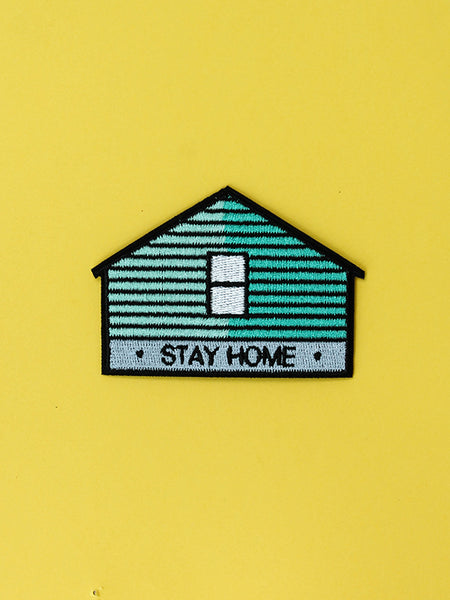 stay home club house iron on patch