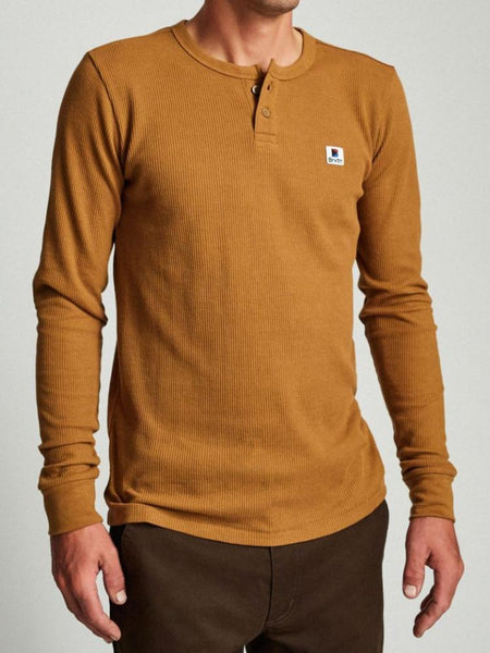 Stowell L/S Henley: Washed Copper