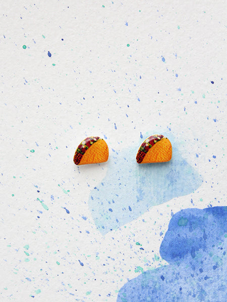 sleepy mountain taco earrings