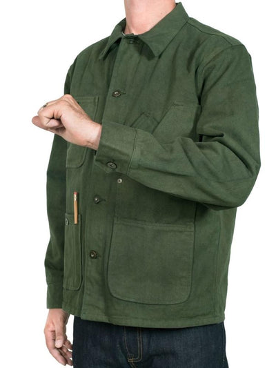 tellason green garment dye coverall jacket