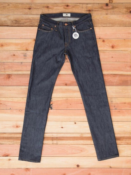 tellason stock slim tapered jeans men's denim