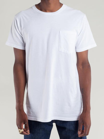 tellason pocket tee white men's tops