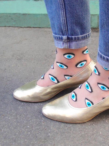 Transparent Eyes Socks
