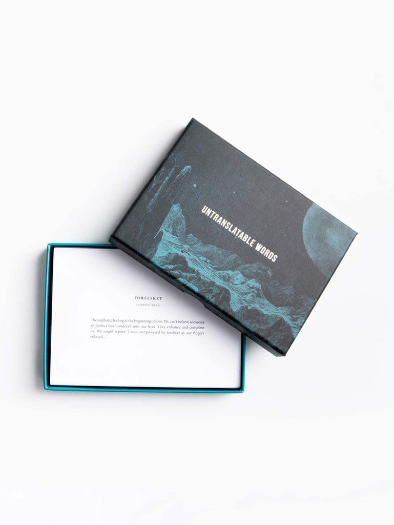 Untranslatable Words Card Set