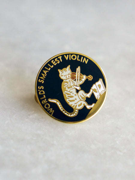 Smallest Violin Lapel Pin