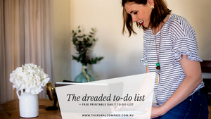 The dreaded to do list + FREE printable
