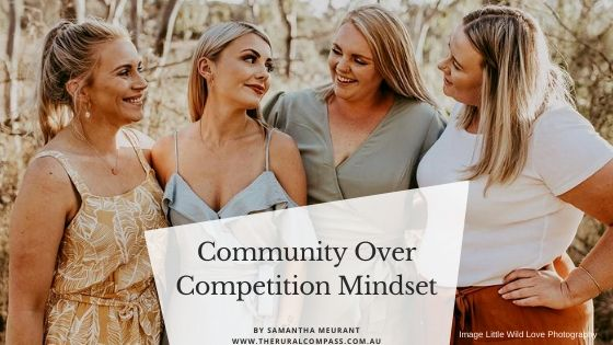 Community over competition mindset