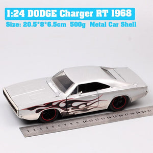 kids 1:24 scales Jada Dom The 1968 Dodge Charger R/T classic muscle car Diecast model car toys race of collection gift baby boys