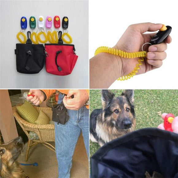 Dog Pet Training Clicker Set