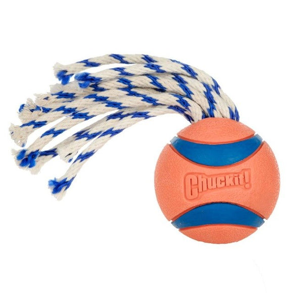 Ball And Rope Tough Dog Toy