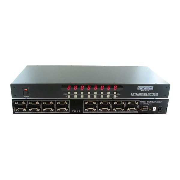 TV Audio Factory Shop - SB-8180 8 : 8 VGA MATRIX SWITCHER IR REMOTE & RS232 CONTROL