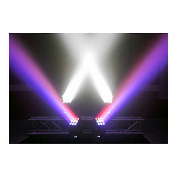 TV Audio Factory Shop - Beamz MATRIX33 LED MOVING HEAD 9x 15w RGBW LEDS DMX