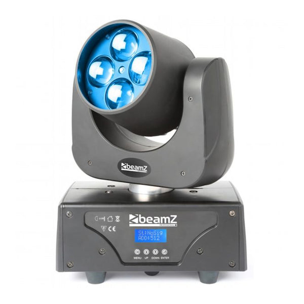 TV Audio Factory Shop - Beamz RAZOR510 LED MOVING HEAD WITH ZOOM 4x 15w RGBW LEDS