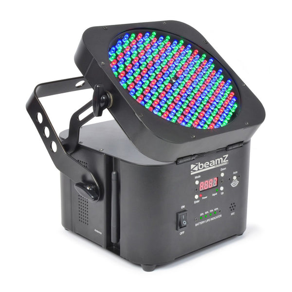 TV Audio Factory Shop - Beamz LED WI-PAR 198 LEDS RGB BATTERY 2.4GHZ DMX