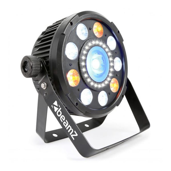 TV Audio Factory Shop - Beamz BX94 PAR 64 WITH COB LED AND STROBE 9x 6W 4-1 RGBW LEDS
