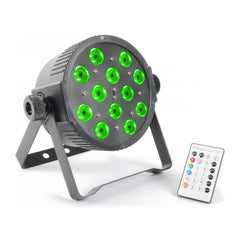 TV Audio Factory Shop - Beamz LED PAR 56 FLATPAR 12x 3W RGB LEDs DMX IR