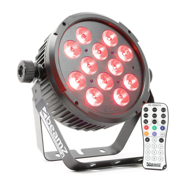 TV Audio Factory Shop - Beamz BT310 LED FLATPAR 12X6W 4-1 RGBA DMX IRC