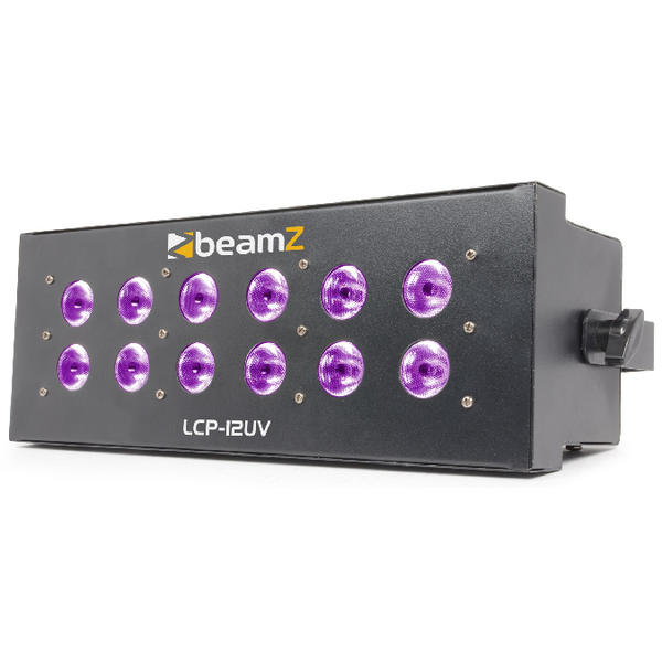 TV Audio Factory Shop - Beamz LCP-12UV UV STROBE 12X 3W LEDS