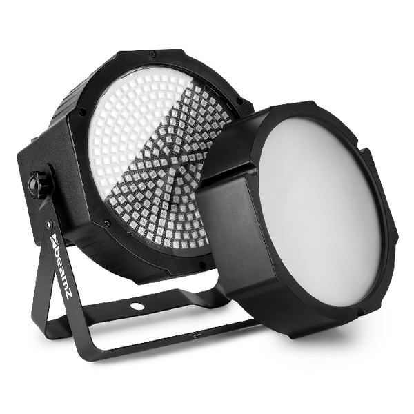 TV Audio Factory Shop - Beamz BS271F LED FLATPAR 271 STROBE SMD 3IN1 DMX FROST LENS 39W