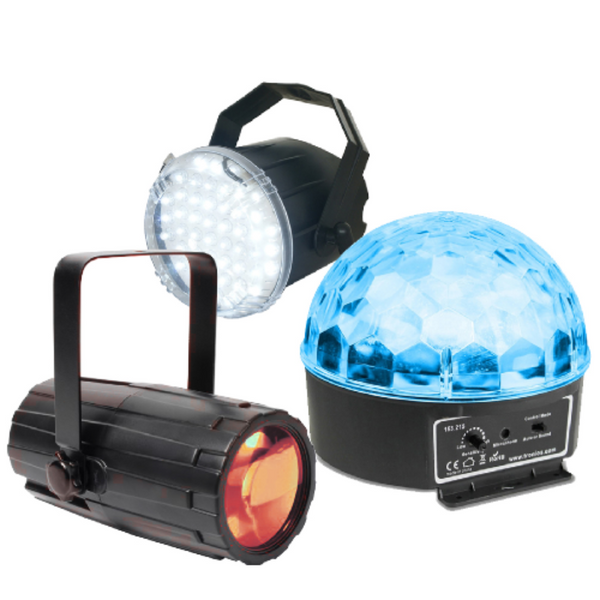 DISCO LIGHT SET 1 (MOON, STROBE AND STAR)