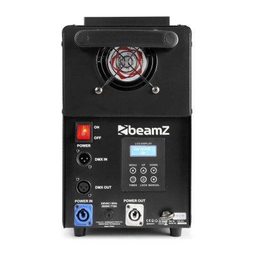 TV Audio Factory Shop-Beamz - S2500 SMOKE MACHINE DMX LED 24X 10W 4-IN-1