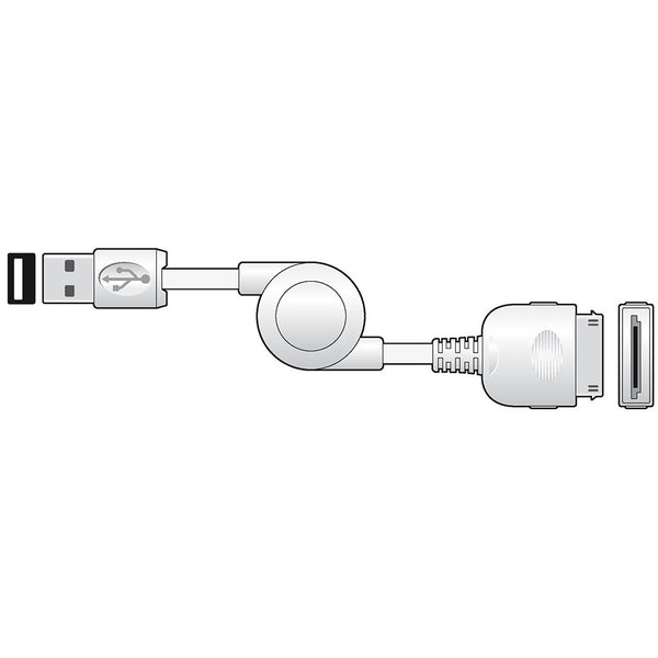 USB 2.0 TYPE-A PLUG  to 30 PIN iPOD PLUG 1m