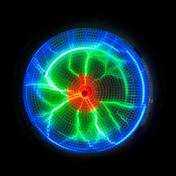 Multi-Colour plasma disc 3 inch. Battery Powered