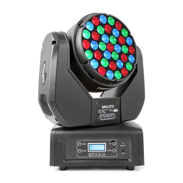 TV Audio Factory Shop - Beamz MHL-373 LED MOVING HEAD 37X 3W RGB 14 CH DMX