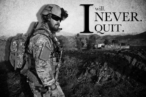 """I Will Never Quit"" Motivational Poster"