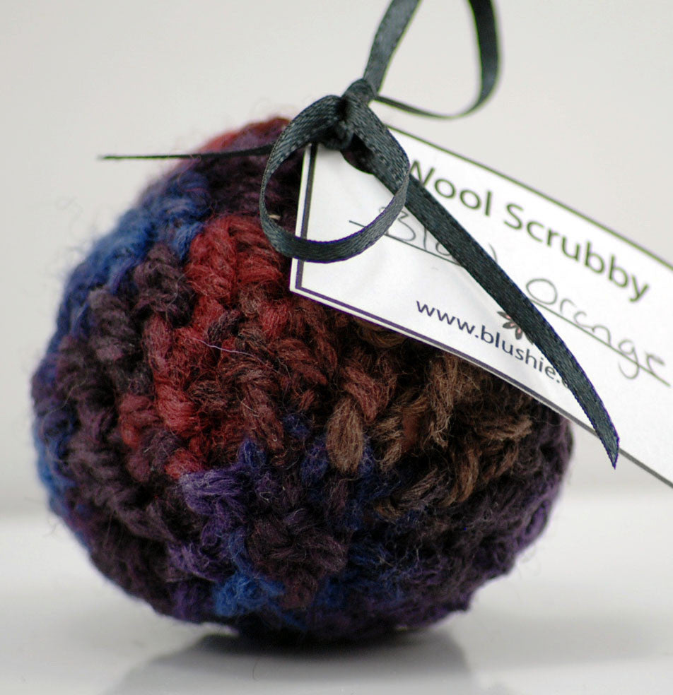 Blood Orange Wool Soap Scrubby in Multi
