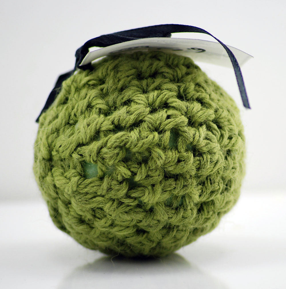 Cucumber Melon Wool Soap Scrubby in Lime