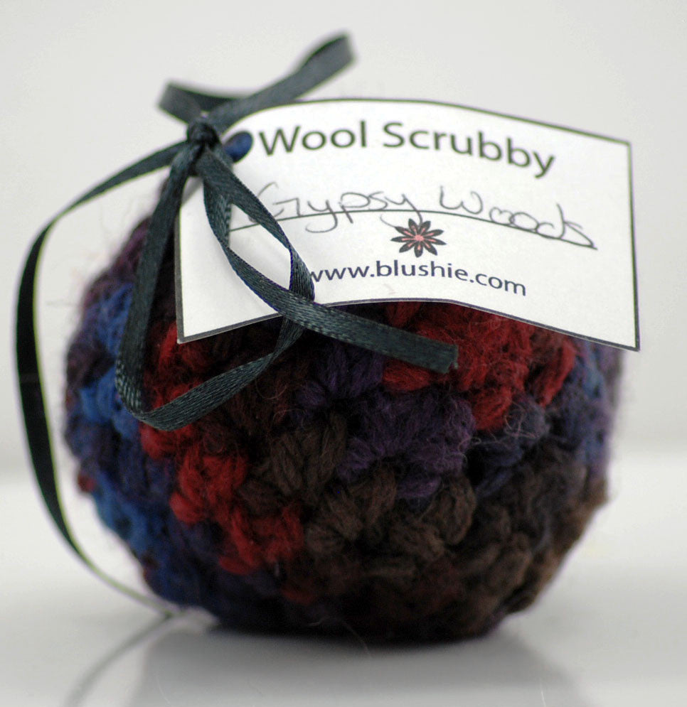 Gypsy Woods Wool Soap Scrubby in Multi