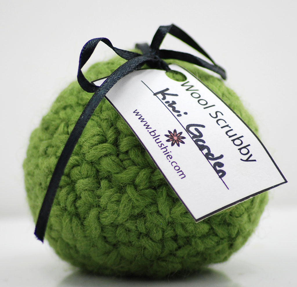 Kiwi Garden Wool Soap Scrubby in Lime