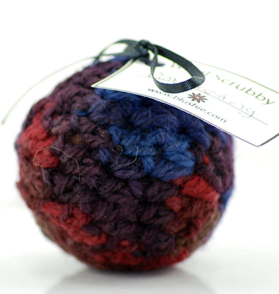 Pink Frosting Wool Soap Scrubby in Multi