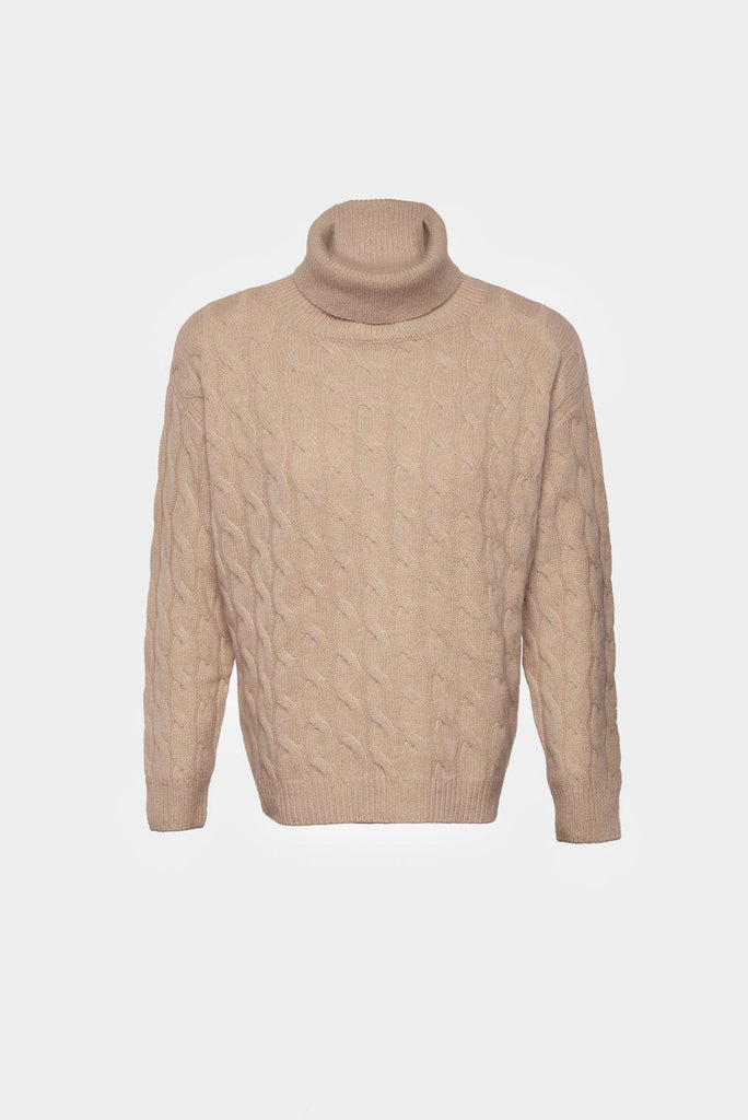 Organic Cashmere Cable Knitwear Sweater