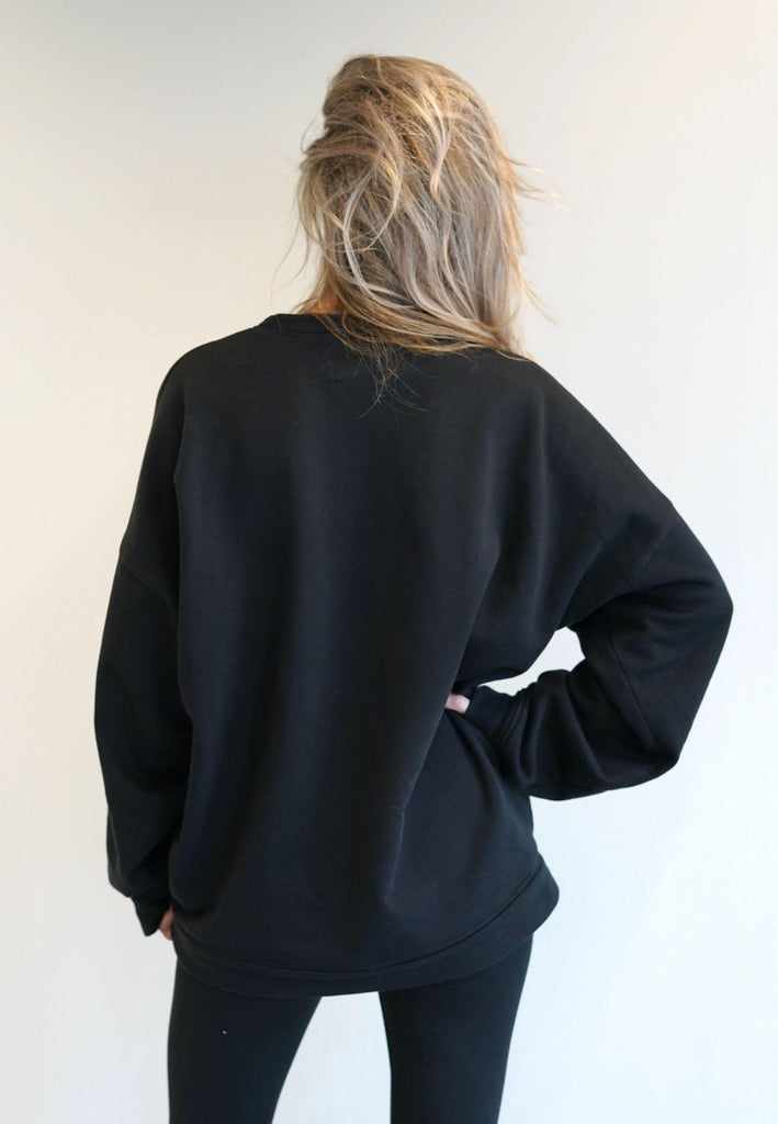 Oversized Logo Sweater-Sweaters & Vests-Atelier Jungles-XS-L-Grey-Atelier Jungles