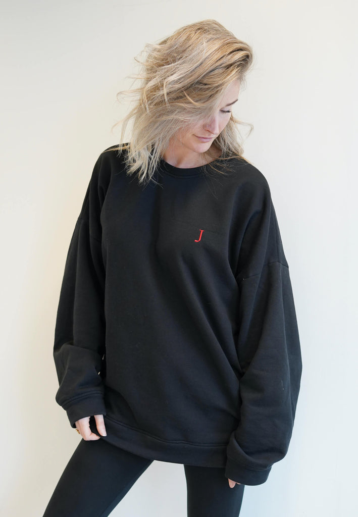 Oversized Logo Sweater-Sweaters & Vests-Atelier Jungles-XS-L-Black-Atelier Jungles