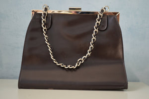Victoria Wieck Leather Square Beverly Hills Handbag/Purse