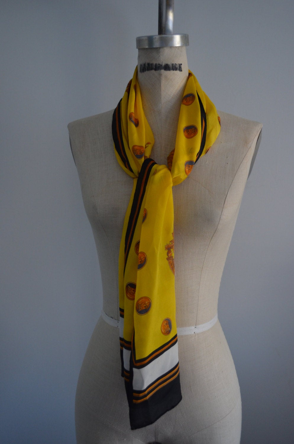 Yellow Classic Queen's Badge Nights In Armour Yellow Scarf