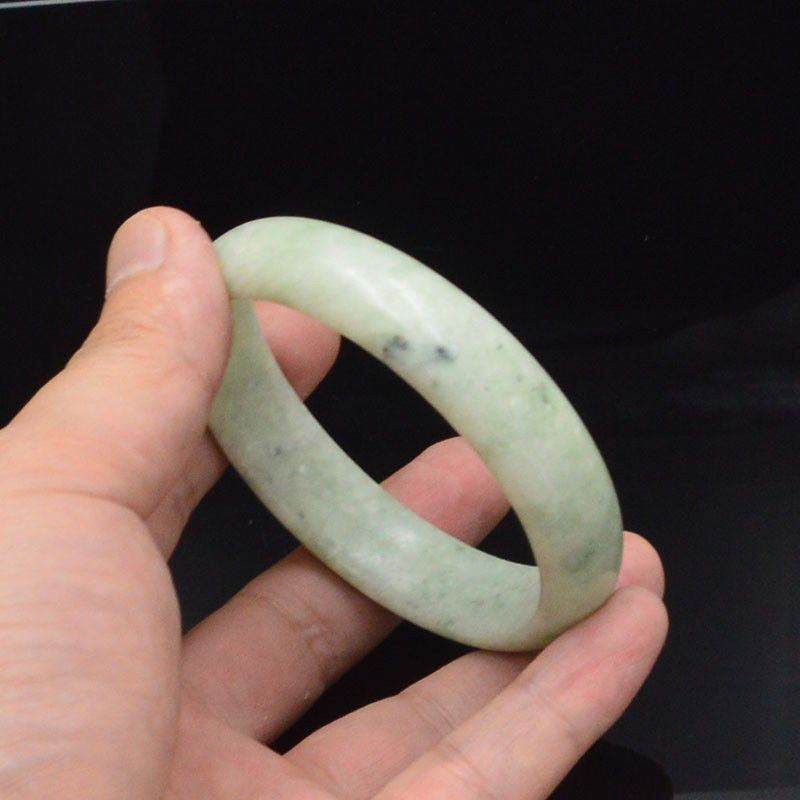 Jade Bracelet Bangle Natural White Jadeite Little Bangle Chinese Japanese Jewelry