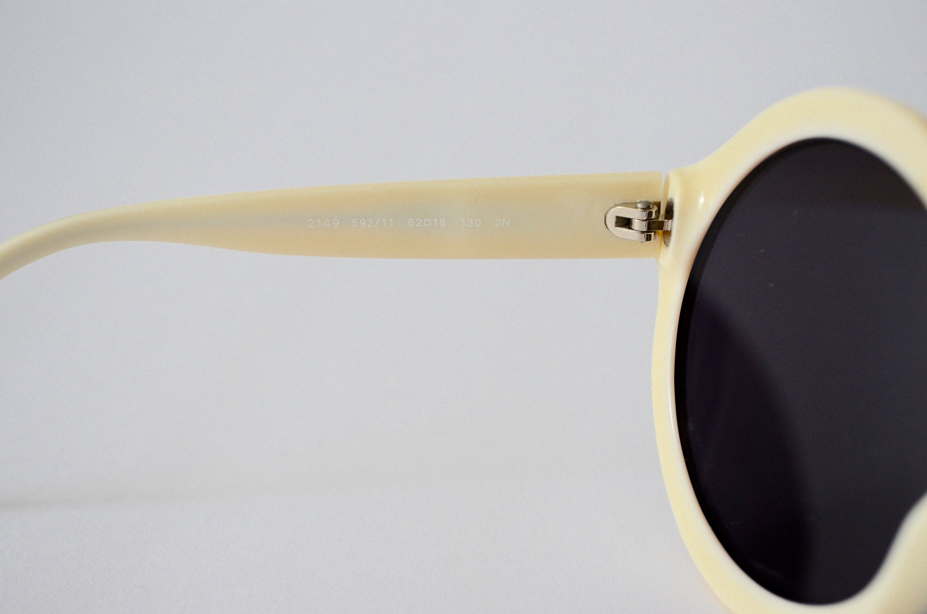 Salvatore Ferragamo Round Off White Tinted Authentic Prescription Sunglasses Oversized
