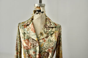 Lady Manhattan Blouse With Matching Tie/Bow Pussybow Floral Print Spring