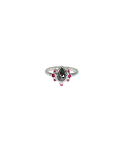 diamond and ruby tephra ring