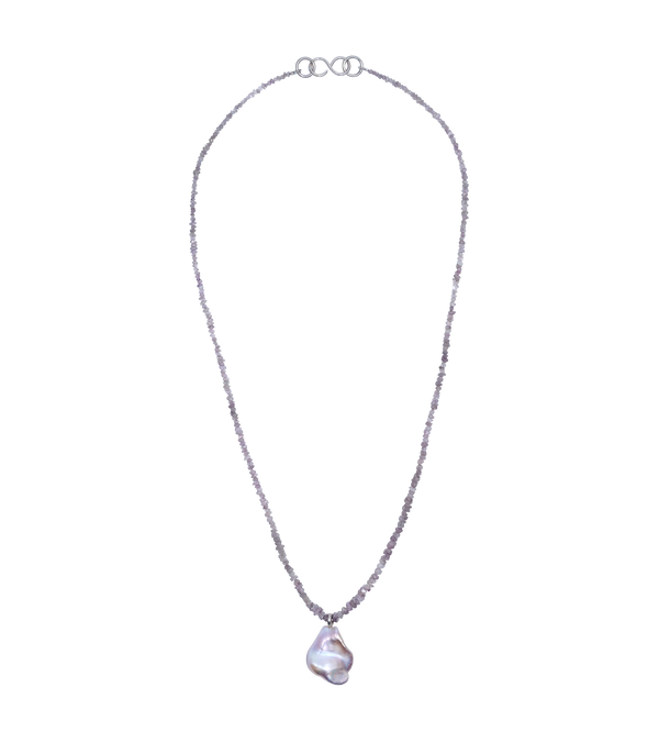 diamond and pearl shiver necklace