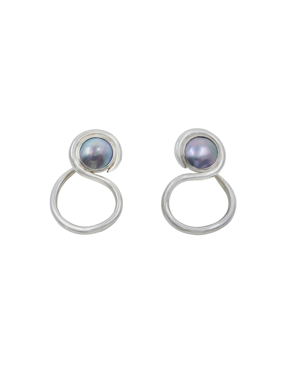 cortez pearl swan earrings