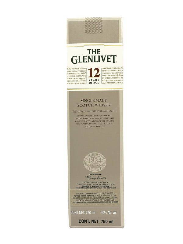 WHISKY THE GLENLIVET 12 ANOS 750 ML