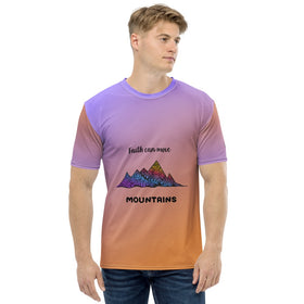Faith Can Move Mountains All-Over Print Men's Crew-Neck T-Shirt
