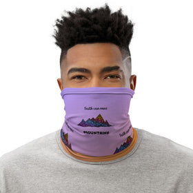 Faith Can Move Mountains All-Over Print Neck Gaiter