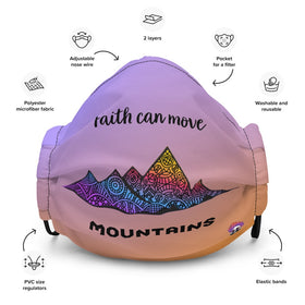 Faith Can Move Mountains All-Over Print Premium Face Mask